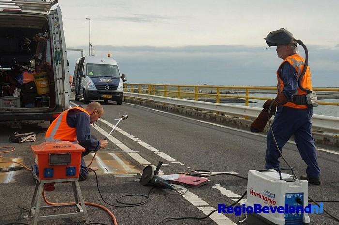 Groot onderhoud aan het brugdek van de Zeelandbrug - Foto: @provzeeland