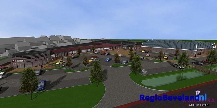 Noord-Beveland start bouw winkelcentrum te Kamperland - Foto: Gemeente Noord-Beveland