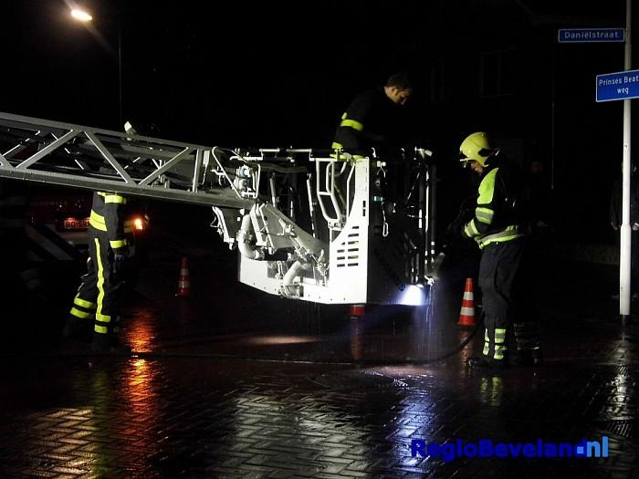 Schoorsteenbrand in woning Daniëlstraat Wemeldinge - Foto: Danny Lamper
