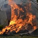 Uitslaande brand in landbouwschuur te Heinkenszand