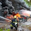 Veel rookontwikkeling bij middelgrote containerbrand Goes