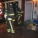Middelbrand in gang van woning aan Kreukelmarkt te Goes