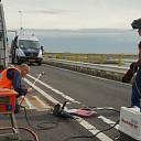 Groot onderhoud aan het brugdek van de Zeelandbrug