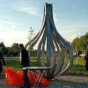 Kunstwerk Juun onthuld door wethouder Hans de Kunder