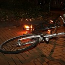 Buitenbrand blijkt brandende fiets in Van de Spiegelstraat