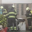 Brandende wasdroger in woning aan Elstarstraat te Kapelle