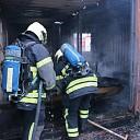 Containerbrand aan de Vuurdoornstraat te 's-Gravenpolder