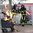 Vuilniscontainer geheel uitgebrand aan Oranjeweg te Goes