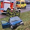 Persoon bekneld na verkeersongeval op de A58 bij Kapelle