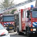 Binnenbrand in woning aan de Veerweg te Wolphaartsdijk