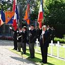 Franse herdenking op de militaire begraafplaats te Kapelle