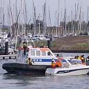 Brand op motorbootje op de Oosterschelde bij Wemeldinge