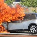 Auto volledig uitgebrand op de A58 ter hoogte van Kapelle