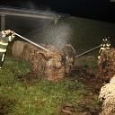 Brandweer rukt uit voor brandende strobalen aan Ploegweg