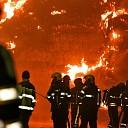 Grote brand in landbouwschuur aan Akkerseweg te Yerseke