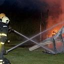 Caravan volledig uitgebrand op camping Wemeldinge