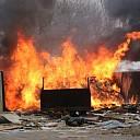 Uit de hand gelopen afvalverbranding aan de Boomdijk