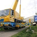 Vrachtwagen in sloot gereden bij de Deltaweg te Goes