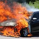 Auto volledig uitgebrand op het Tiendenplein te Goes