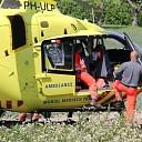 Traumahelikopter bij ongeval tijdens Jumpin' de Weel
